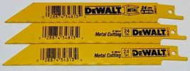 "Dewalt DW4813 6"" x 24T Bi-Metal Metal Cutting Reciprocating Blades 3pcs Bulk - $3.56"