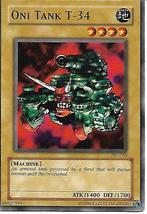 Yu-Gi-Oh Card- Oni Tank T-34 - $1.00