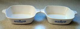 Set Of 2-BLUE Cornflower Corning Ware Petite Pan P-41 (Mini Baking Dish) Vintage - $12.76