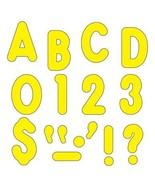 (3 Pk) Ready Letters 7in Yellow Uppercase Billboard Font - $32.99