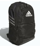 NEW ADIDAS STADIUM II TEAM SOCCER BACKPACK BAG  #5136891  BLACK  - $60 RETAIL - $48.85