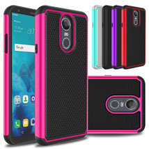 For LG Stylo 4 / Q Stylo Phone Case Hard Hybrid Shockproof Rubber Rugged... - $169,23 MXN