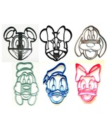 Mickey Mouse Minnie and Friends Face Set of 6 Cookie Cutters USA PR1569 - $16.99