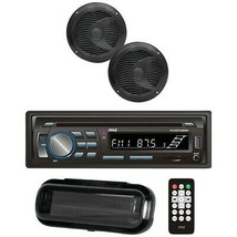 """Pyle PLCDBT75MRB Marine Single-DIN In-Dash Cd AM/FM Receiver With Two 6.5"""" Spea - $135.72"""