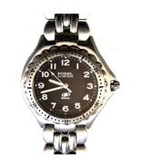 Fossil Blue Mans Watch Quartz Big Easy Read Black Dial 50M WR, Silver Ba... - $64.20