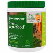 Amazing Grass Green Superfood Original 8 5 oz 240 g All-Natural, Gluten-... - $44.99