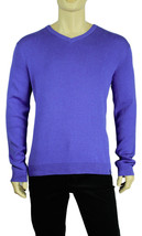 New Calvin Klein V Neck Blue Cotton Blend Pullover Sweater L - $25.10