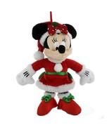 disney parks christmas ornament santa minnie mouse plush new with tag - $22.27