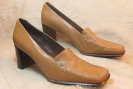 Via Spiga Womens Tan Leather Heels Pumps Shoes Italy 7 1/2M 7 1/2 M - $29.68