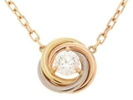 21 Cartier Trinity necklace necklace Trinity 3 color 1PD 2.9g - $2,891.89
