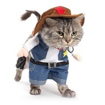 Cowboy Pet Costume Sherif Dog Cat Uniform Suit Clothes Puppy Party Dress... - €11,11 EUR