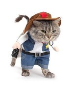 Cowboy Pet Costume Sherif Dog Cat Uniform Suit Clothes Puppy Party Dress... - $16.90 CAD
