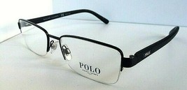 New Polo Ralph Lauren PH 5911 3890 Black Semi-Rimless Men's Eyeglasses Frame   - $82.00