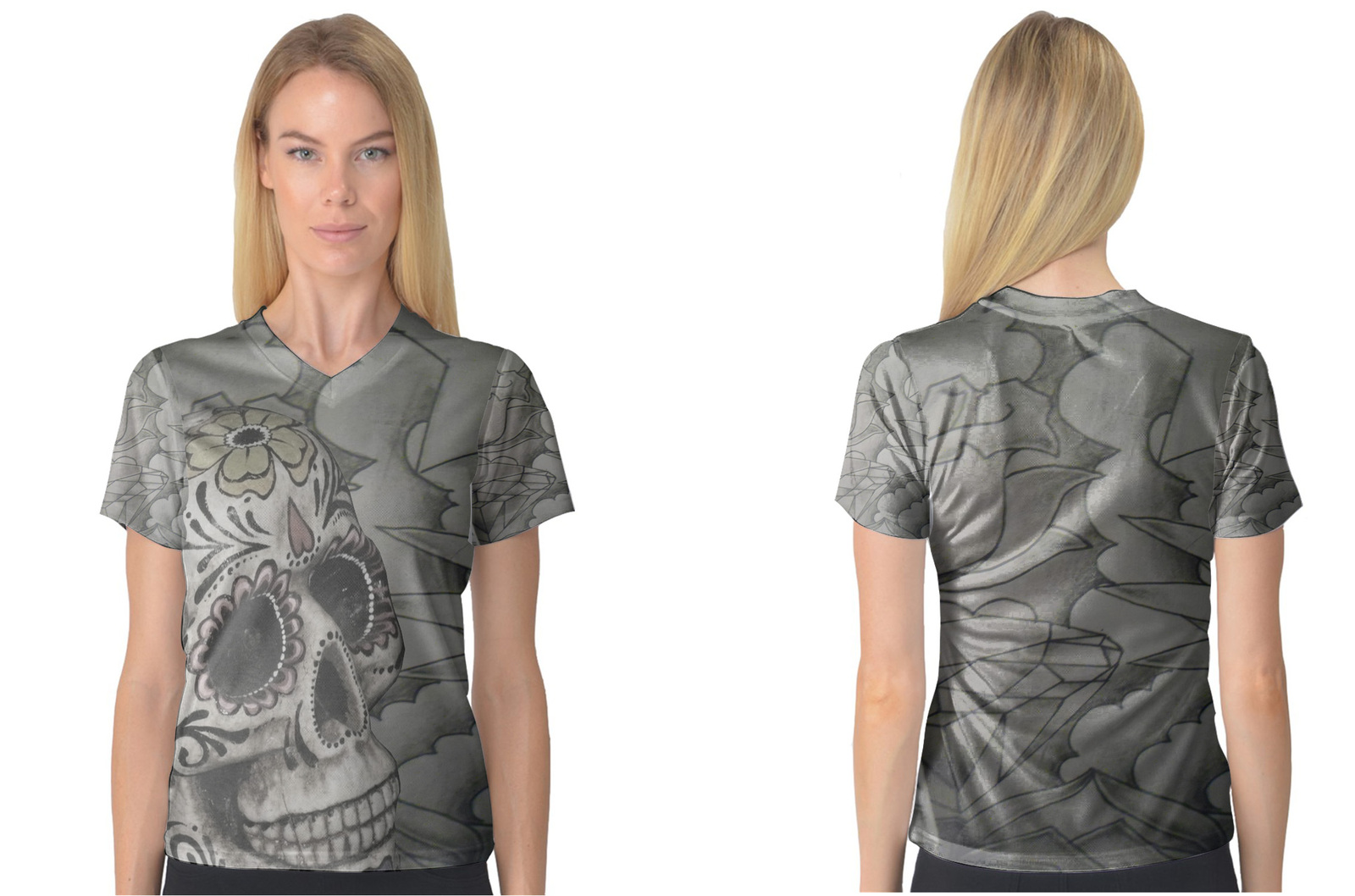 Primary image for Day of Dead Women's V-Neck T-Shirt