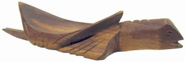 Carved Wood Turtle Dish Stand Solomon Island Vintage 80s - $17.38