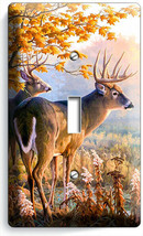 WHITETAIL DEER BUCK AUTUMN FOREST 1GANG LIGHT SWITCH WALL PLATE CABIN RO... - $9.99