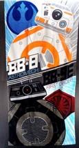 """Star Wars Droid Duo BB-8 & BB-9E Beach Bath Pool Towel  28"""" x 58"""" Soft C... - $14.84"""