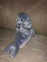 "TY Beanie Baby Slippery Seal Gray Beanbag Plush 7"" Stuffed Animal No Han... - $8.91"