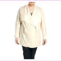 INC Women's Plus Winter Faux Suede Double Face Drapey Coat Outerwear - $98.90