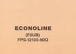 1990 FORD ECONOLINE VAN Electrical Wiring Diagrams LARGE FOLD OUT EDITIO... - $12.98