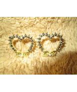 Fashion Ladies Heart Bow Crystal  Stud Earrings - $5.00
