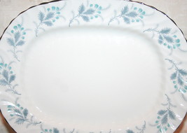 "Las Palmas 11.75"" Oval Platter Made in England by Aynsley Soft Fluted Rim  - $59.35"