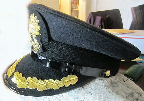 P /& O MARINE SHIP LINE CAPTAIN BLACK HAT CAP NEW MOST SIZES EXCELLENT CP MADE