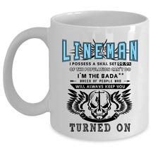 Cool Gift For Linemen Coffee Mug, Lineman Cup - $17.99