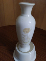 1985 Samuel J.Butcher Precious Moments Young Girl Vase  Made in Korea  image 1