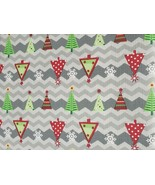 "Peva Flannel Back Tablecloth,60"" x 84"" Oblong, CHRISTMAS TREES ON GREY, ... - $15.83"