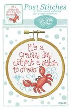 It's A Crabby Day Without A Stitch Post Stitches cross stitch chart Sue Hillis D - $5.40