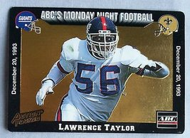 Vintage NFL 1993 Action Packed Monday Night Football Lawrence Taylor New York Gi - $3.50