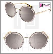 Prada Cinema Round Evolution Sunglasses 50T Transparent Grey Silver M Irror PR50T - $217.80