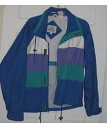 Man's Van Heusen 417 Blue Windbreaker Jacket SZ SMALL EUC - $22.00