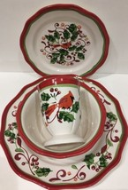 Rare Gibson Home Designs 4 Piece Place Setting Service For 1 (Aglow Pattern) - $39.59