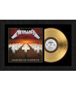 """Master Of Puppets"" by Metallica 17 x 26 Framed 24kt Gold Album w/Album ... - $198.95"