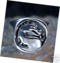 New Heavy Mortal Kombat Ring Dragon Sterling silver 925  Jewelry X - $45.01