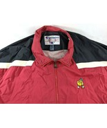 Vintage Champion Nylon Zip Up Vented Jacket Gus Macker Basketball Red Black - $37.25