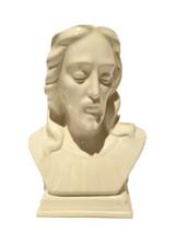 Vintage 1960's Jesus Christ Bust White Porcelain. Holland Mold - $26.66