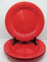 """Certified International Metro Red Dinner Plate Embossed Ring 11""""  Bundle... - $28.42"""