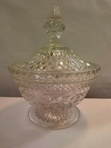 Anchor Hocking WEXFORD Diamond Criss Cross Covered Candy Dish 1960's - $15.47