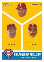 2009 Topps Heritage #466 Rich Dubee/Davey Lopes/Milt Thompson Phillies NM-MT (SP - $6.00
