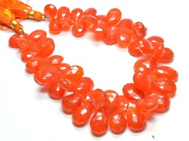"""PH-090 Carnelian Pear Faceted Gemstone Beads 8.5x11.5mm-11x16mm 285Ct 8""""... - $190.07"""