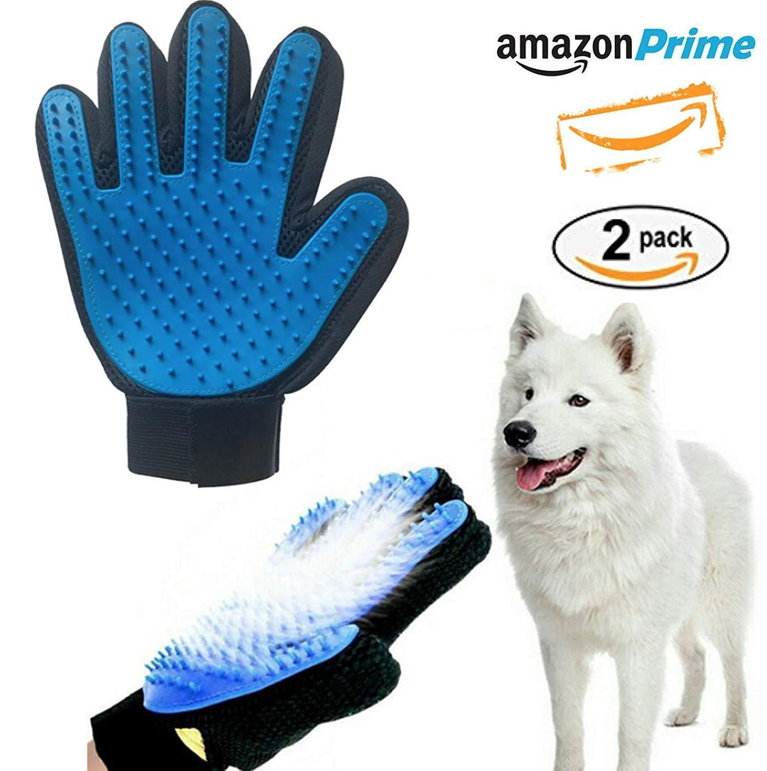 Pair of Original Pet Grooming Glove Gentle Deshedding Brush Glove Dogs,Cats, etc image 2
