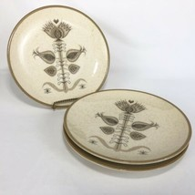 3 Franciscan Spice Pattern Salad Plate 8 1/4 IN Made USA 60s Brown Cream... - $19.75