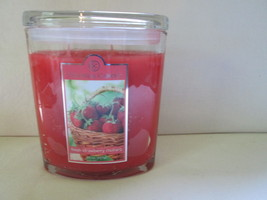 Colonial Candle ~~STRAWBERRY RHUBARB~~ 22 oz LGE Oval Jar, 2 wick FREE S... - $38.99