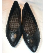 Vionic Cabello Ballet Flat 11 Black Snake NEW Pointed Toe Orthopedic Dre... - $66.03