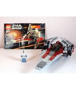 Lego Star Wars 6205 Set Episode III V-wing Fighter Complete with Instruc... - $34.60
