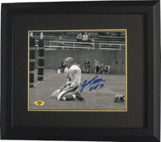 Primary image for Y.A. Tittle signed New York Giants Blood Sepia Horizontal 16X20 Photo HOF 71 Cus