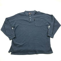 Chaps Ralph Lauren Long Sleeve Polo Size 2XL XXL Pullover Collared Rugby Shirt - $15.15